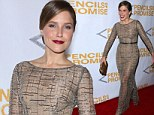 Sophia Bush dazzles at Pencils For Promise Gala as she spices up a shimmering gown with deep red lipstick