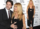 Pregnant party hopper Rachel Zoe cuts a stylish figure as she attends two parties in one night with attentive husband by her side