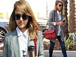 She's the man! Jessica Alba blends masculine styling to look impossibly chic in West Hollywood