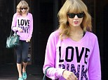 Taylor Swift is in love again... But only with the colour pink this time