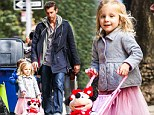 Bethenny Frankel's daughter Bryn can't hide her delight as Jason Hoppy surprises her with a Minnie Mouse doll