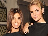 Mentor: Kate Upton has thanked former Vogue editor Carine Roitfeld for helping her make the transition from glamor to high-fashion model