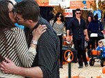 They're 'spicy' alright! Robin Thicke and Paula Patton can't keep their hands off each other as they cart their son around the pumpkin patch