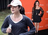 Lucy Hale jogs make-up free