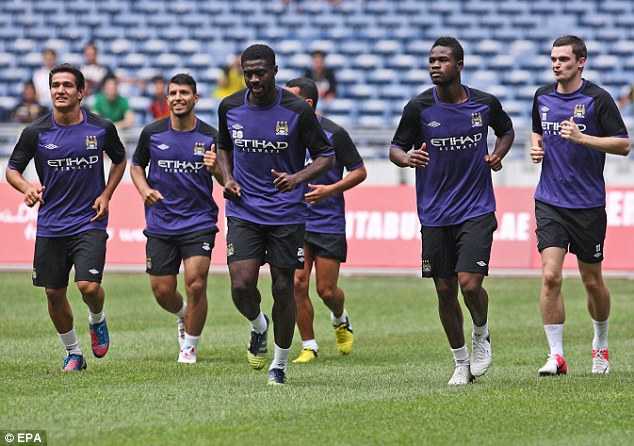 City slickers: The players are in action on a pre-season tour