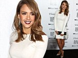 Jessica Alba wows in white flirty dress with silver and nude stilettos for fashion event honoring the best dressed celebs