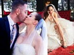 Inside Rose McGowan's quirky wedding: Charmed star kisses and pouts in playful photo album