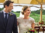 SNL star Seth Meyers beams after tying the knot with stunning bride Alexi Ashe in picturesque farm wedding
