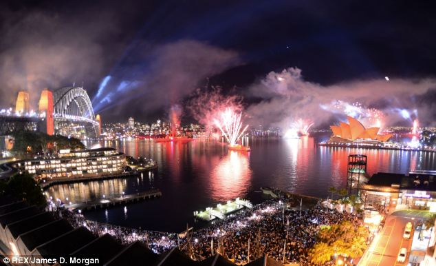 Incredible: The show, which saw more than 7 metric tons (7.7 tons) of fireworks used, was expected to draw 1.4 million spectators