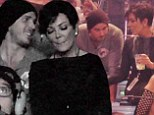Are you sure you're just friends? Kris Jenner, 57, looks cosy with Bachelor Ben Flajnik, 30, as they sip champagne at Kanye West's concert