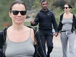 Did you forget something? Fran Drescher goes braless on outing with toyboy in Los Angeles