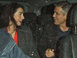 Who's that girl? George Clooney left Berners Tavern with a mystery woman in London on Thursday