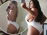 I can do it too! Shahs Of Sunset's Mercedes Javid recreates Kim Kardashian's revealing selfie... and threatens to spill out of white swimsuit