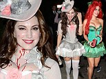Kelly Brook and Jessica Lowndes attend same Halloween party