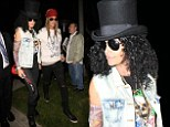 Cindy Crawford dresses as rocker Slash for Halloween party with husband Rande Gerber