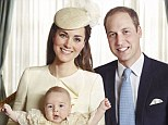 Joyful: Prince George appears happy and healthy with his mother and father the Duke and Duchess of Cambridge