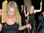 Don't like dress up? Chelsea Handler shows off her bra in sheer top at Halloween party while forgetting to wear a costume