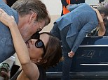 Heating things up: Pierce Brosnan was seen kissing Salma Hayek on set as they filmed How To Make Love Like An Englishman in Los Angeles, California on Friday