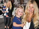 A natural knockout! Jessica Simpson is a makeup free beauty as she reunites with her daughter Maxwell after a romantic Italy trip