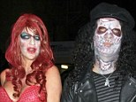 The Halloween couple contest is on! Kristin Chenoweth and Jake Pavelka cannot beat Slash and wife Perla's terrifying commitment factor
