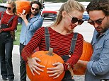 Nice gourds! Johnny Galecki and girlfriend Kelli Garner get ready for Halloween at Mr. Bones Pumpkin Patch