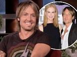 That's a bit racy! Keith Urban reveals he sends saucy sexts to wife Nicole Kidman