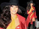 Sexy and educational: Naya Rivera attended a Halloween party at the Los Angeles home of Kate Hudson on Saturday dressed as the title character of the educational software game Where In The World Is Carmen Sandiego?