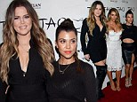 Ladies in black! Kourtney and Khloe Kardashian make sure to let their sister shine at her birthday by wearing subtle but sexy looks