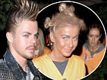 Talk about a Misfit! Derek Hough dresses as a punk for Halloween... after sister Julianne causes storm by painting her face black