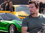 Mark Wahlberg flaunts his '2 Guns' and two Chevrolet muscle cars on the Hong Kong set of Transformers 4