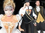 The Three Musketeers: Kate Upton is flanked by new beau Maksim Chmerkovskiy and his brother Val at Halloween party