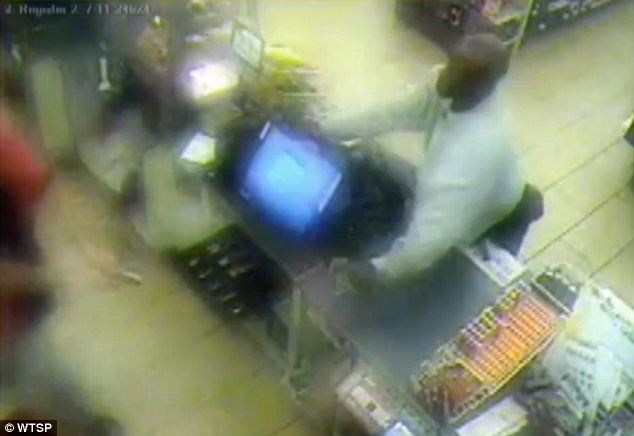 Backing off: VanConett said that he took out the gun to get the robber to leave, which he did