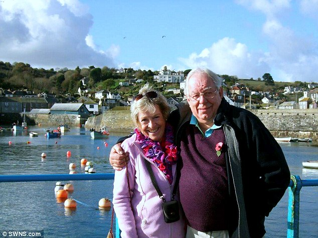 Unlucky couple: John and Jan Brooks had intended to spend three months a year in their Spanish hillside retreat