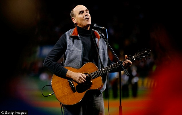 Specially tailored: James Taylor began singing the wrong song at the World Series Game 2