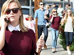 Reese Witherspoon enjoys a day out with her family in Los Angeles