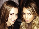 Showbiz pals: It would seem that Kim Kardashian has found a new showbiz bestie in the form of Cheryl Cole as the pair came face-to-face at a Kanye West concert on Saturday night