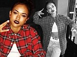 She's got the look: Karrueche Tran dressed as a chola on Sunday with a few gal pals and shared her Halloween costume with her followers on Instagram