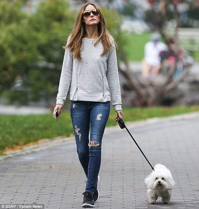 Longtime companions: Palermo is often seen in the company of her beloved pooch