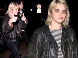 Sky Ferreira and boyfriend Zachary Cole Smith take rocker look from the stage to the streets while at the Chateau Marmont as the duo enjoy night out despite recent arrests
