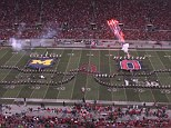 The Ohio State University marching band's tribute to film included two battling ships straight out of Pirates of the Carribean