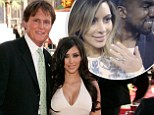 'He WILL walk me down the aisle': Kim Kardashian 'confirms that stepfather Bruce Jenner will give her away at her third wedding to Kanye West'