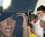 David and Victoria Beckham take son Brooklyn to a spin class
