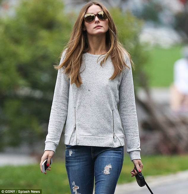 In style: Palermo was recently named as Chadstone's Spring Summer 2013 Icon of Style, and looked chic as ever despite the low-key outing in skinny ripped jeans, black sneakers and a grey sweatshirt