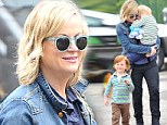Sunday fun day with the boys! Amy Poehler takes her sons out for a day of fun and shopping at a Beverly Hills farmer's market