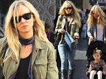 Party of three! Kimberly Stewart engaged in some retail therapy as her mother Alana Stewart pushed Delilah around Hollywood, California on Saturday