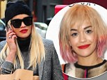 That's better! Rita Ora ditches dodgy pastel-streaked bob in favour of long blonde hair extensions in New York