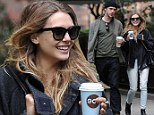 Elizabeth Olsen embraces casual but chic style as she enjoys romantic autumnal stroll with boyfriend Boyd Holbrook