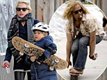 Michelle Williams suits up daughter Matilda in knee pads and helmet as the tween takes after her late dad Heath Ledger by learning how to skateboard