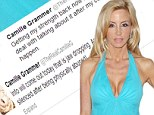 'I was in fear for my life': Camille Grammer shocks Twitter followers with claims she was 'physically abused' just two days after cancer surgery