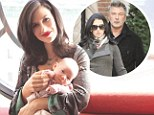 'Alec didn't kiss me for six weeks!' Hilaria Baldwin opens up about early courtship with husband Alec as she takes part in photo shoot with baby Carmen